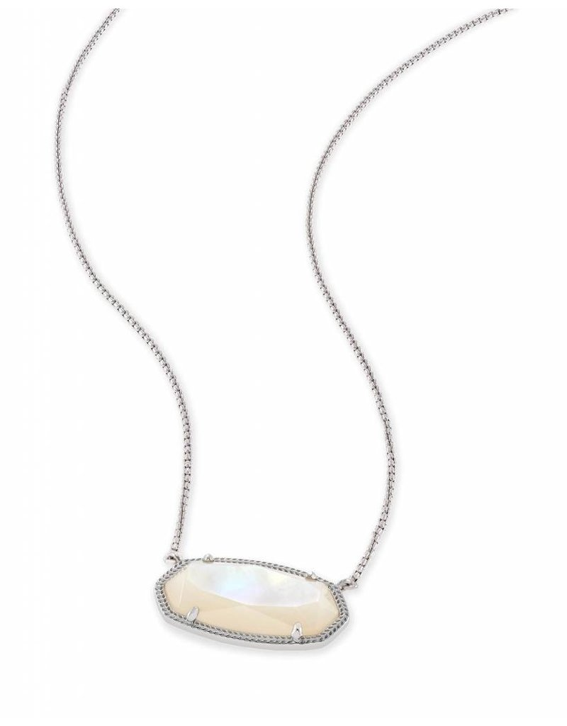 Kendra Scott Delaney Necklace Ivory MOP on Silver