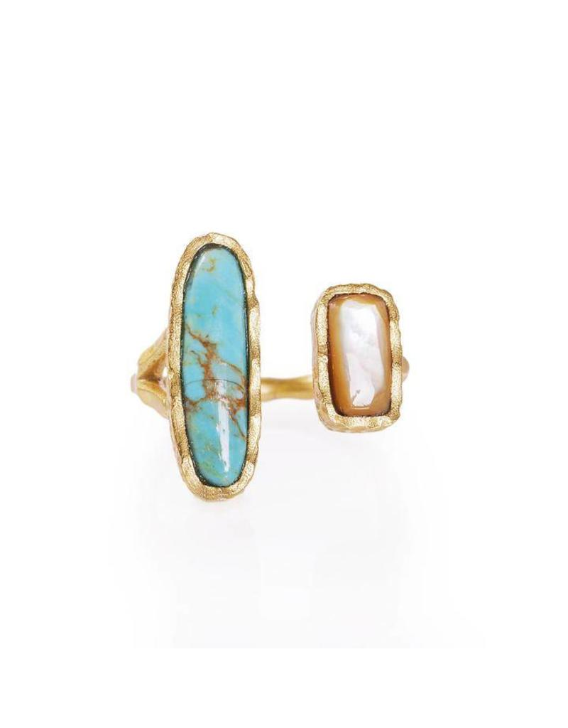 Christina Greene Deco Twin Stone Ring