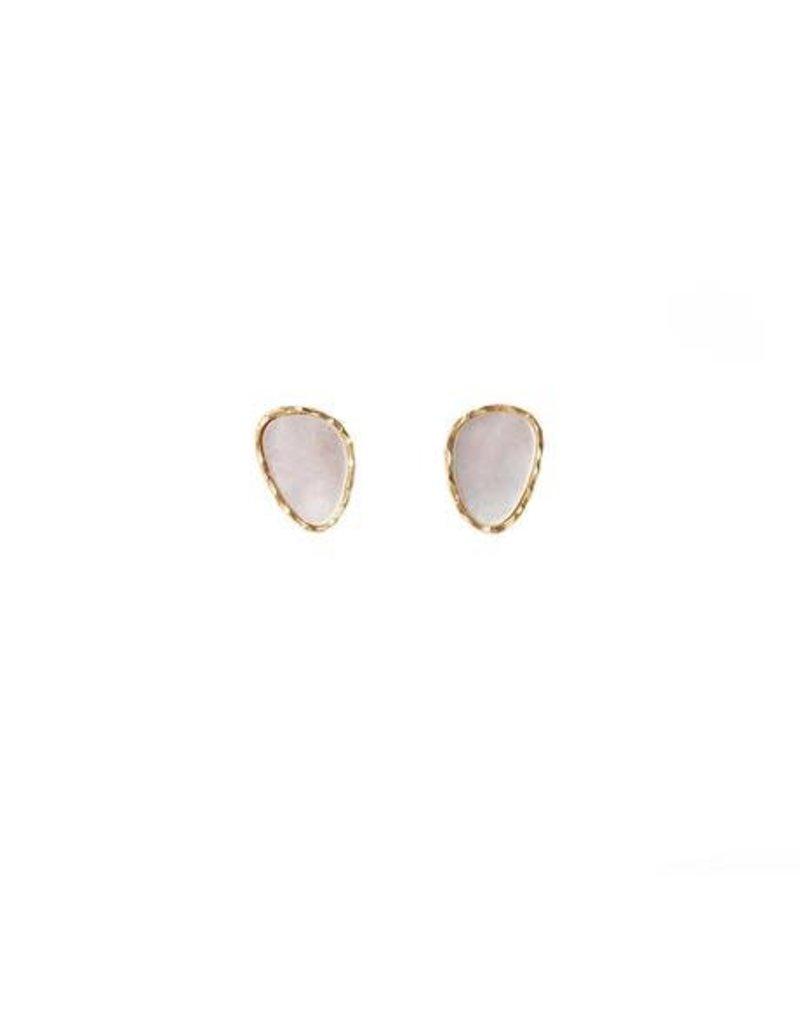 Christina Greene Pearl Stud Earrings