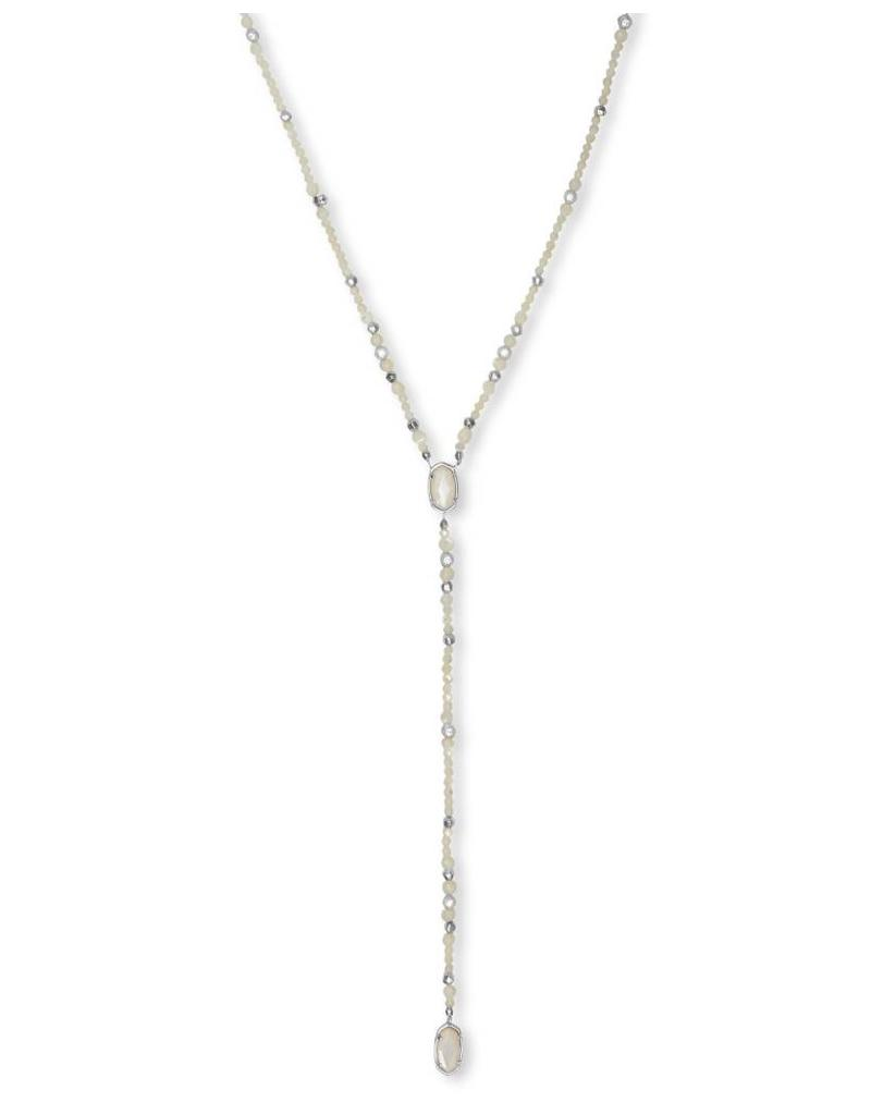 Kendra Scott Bethany Necklace in Silver Ivory Pearl