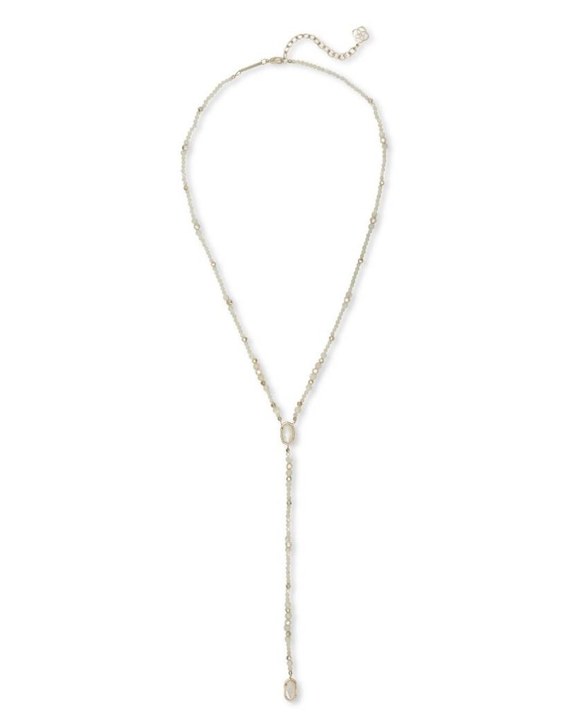 Kendra Scott Bethany Necklace in Gold Ivory Pearl