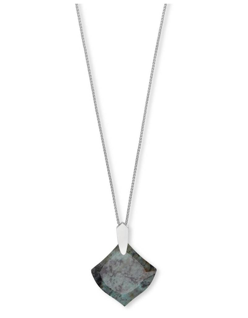 Kendra Scott Aislinn Necklace in Silver African Turquoise