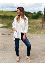 White on White Long Sleeve Blouse