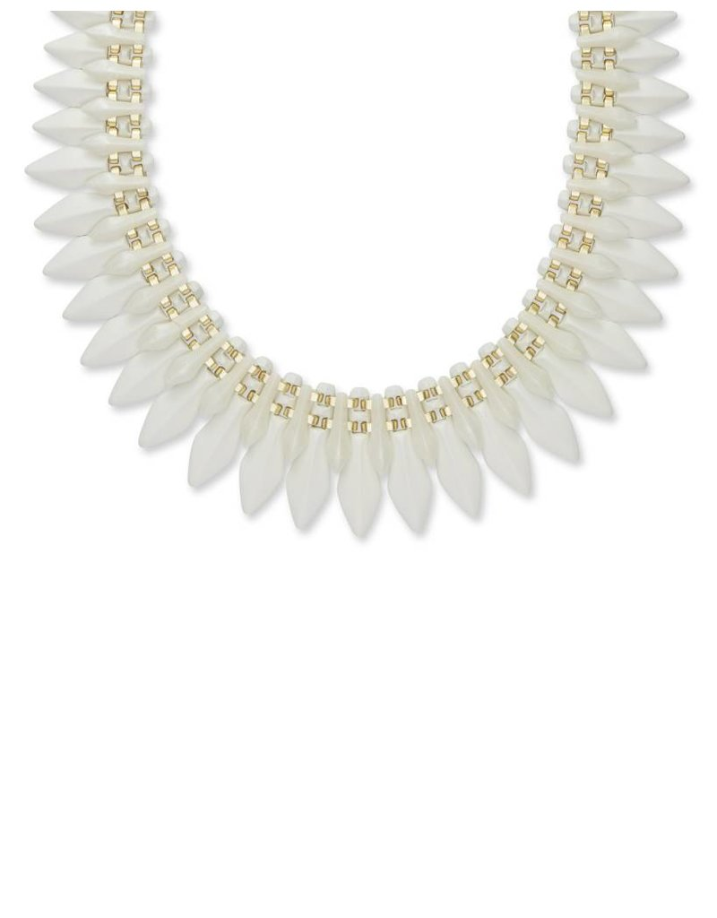 Kendra Scott Lazarus Necklace Gold Ivory Marbled Acrylic