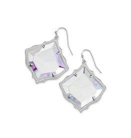 Kendra Scott Kirsten Dichroic Glass Earrings on Silver