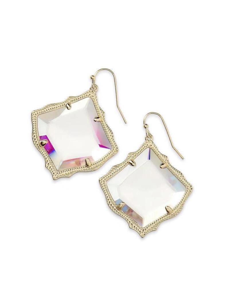 Kendra Scott Kirsten Dichroic Glass Earrings on Gold