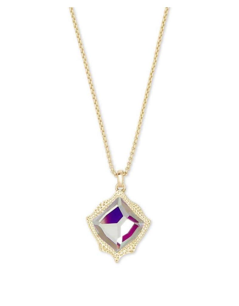 Kendra Scott Kacey Dichroic Glass Necklace on Gold