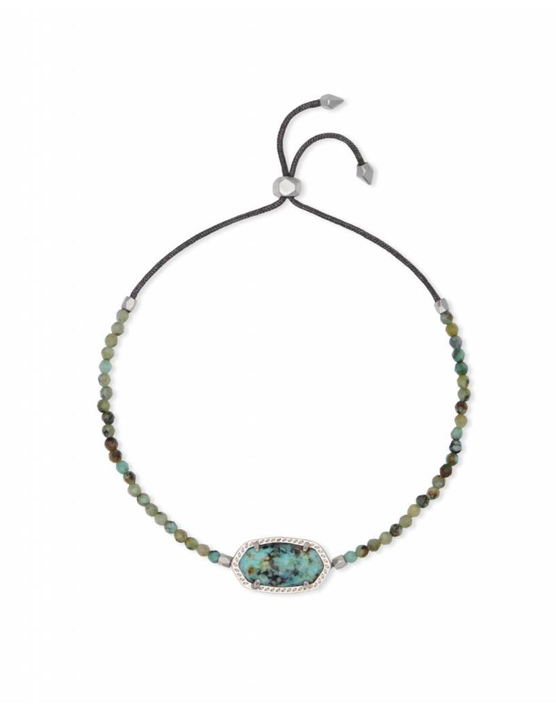 Kendra Scott Elaina Beaded Bracelet in African Turquoise on Silver