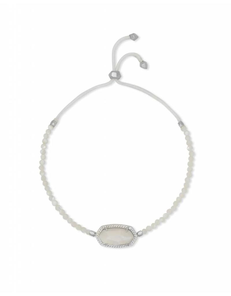 Kendra Scott Elaina Beaded Bracelet in Ivory Mother of Pearl on Silver
