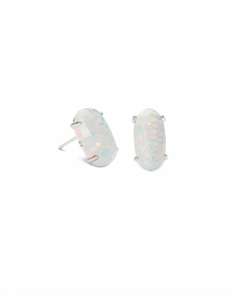 Kendra Scott Kendra Scott Betty Earring White Opal on Silver