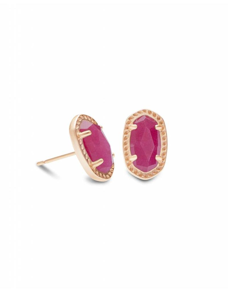 Kendra Scott Emery Studs in Rose Gold Maroon Jade