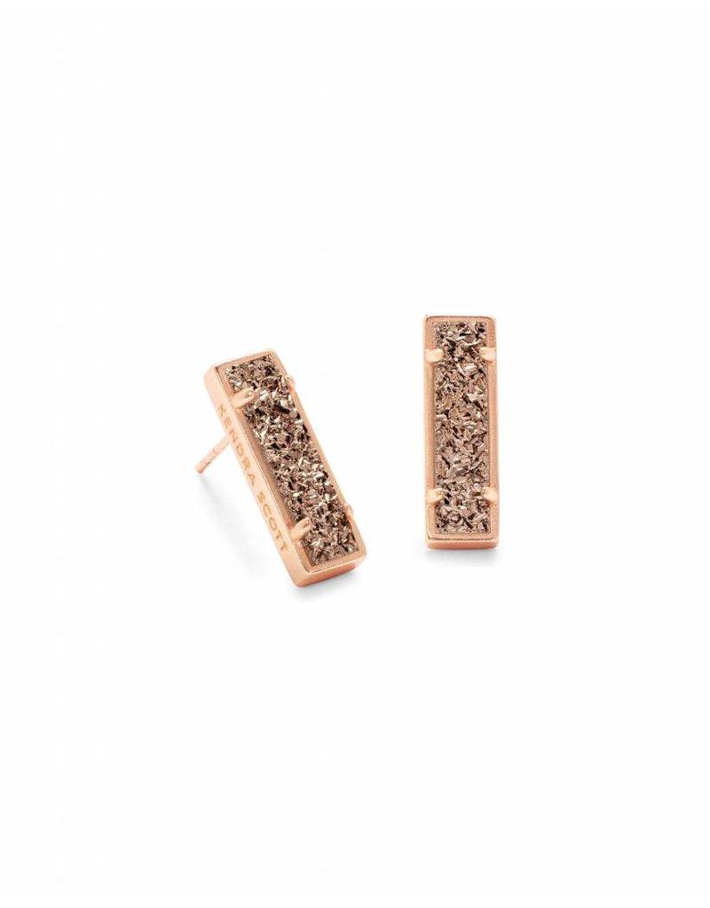 Kendra Scott Lady Earrings in Rose Gold Drusy