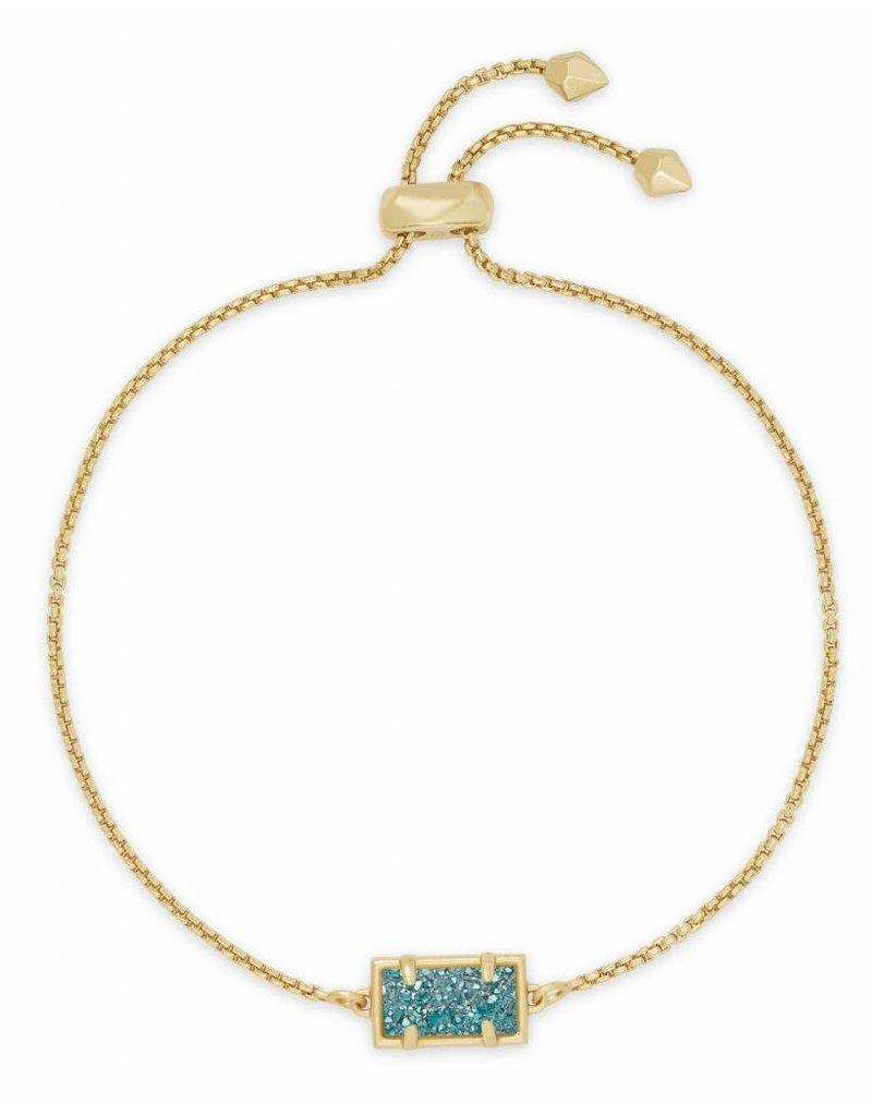 Kendra Scott Phillipa Bracelet Aqua Drusy on Gold