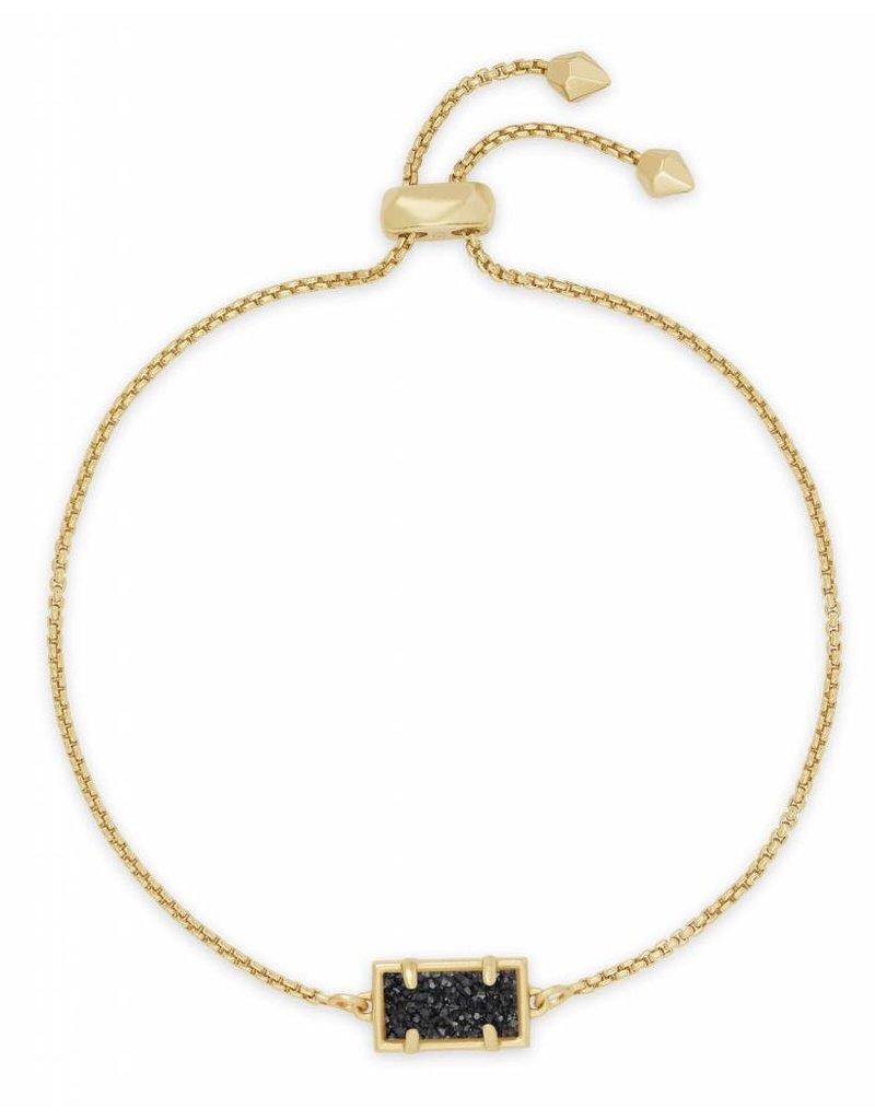 Kendra Scott Phillipa Bracelet Black Drusy on Gold