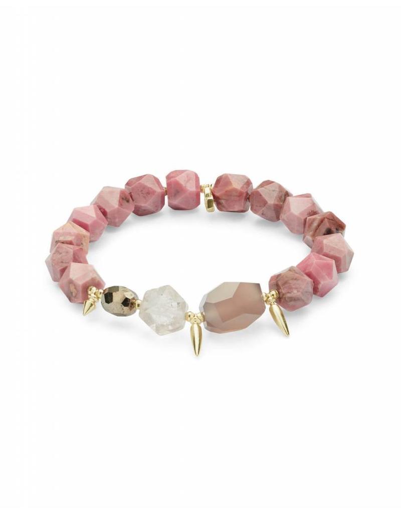 Kendra Scott Sadie Bracelet in Gold Pink Mix