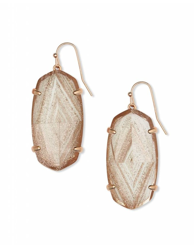 Kendra Scott Esme Earrings in Rose Gold Dusted Glass