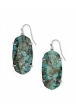 Kendra Scott Esme Earrings in Silver African Turquoise