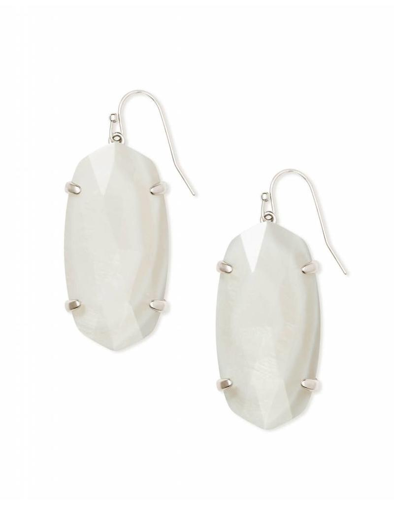 Kendra Scott Esme White Mother of Pearl on Silver