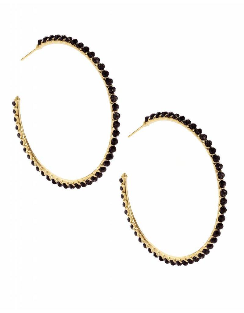 Kendra Scott Birdie Earring Gold Black
