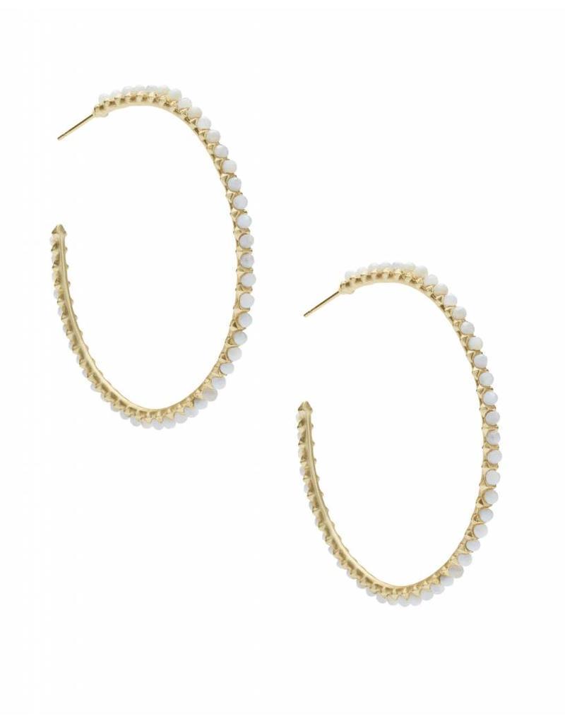Kendra Scott Birdie Earring Gold Ivory Mother of Pearl