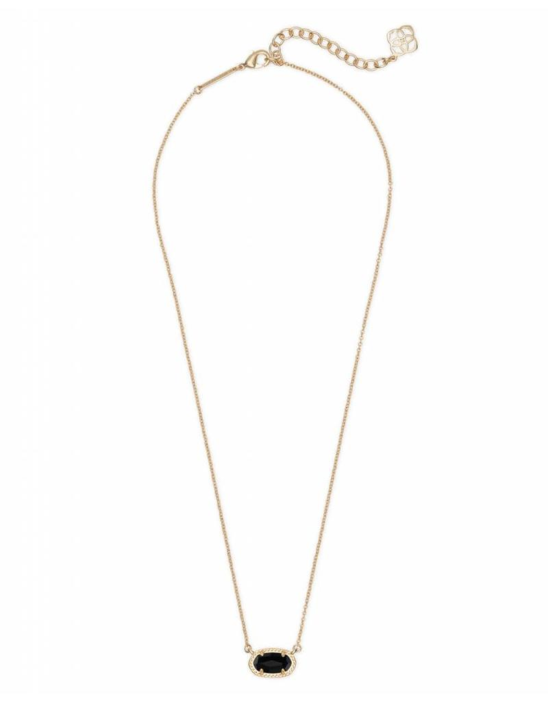 Kendra Scott Ember Necklace in Black on Gold
