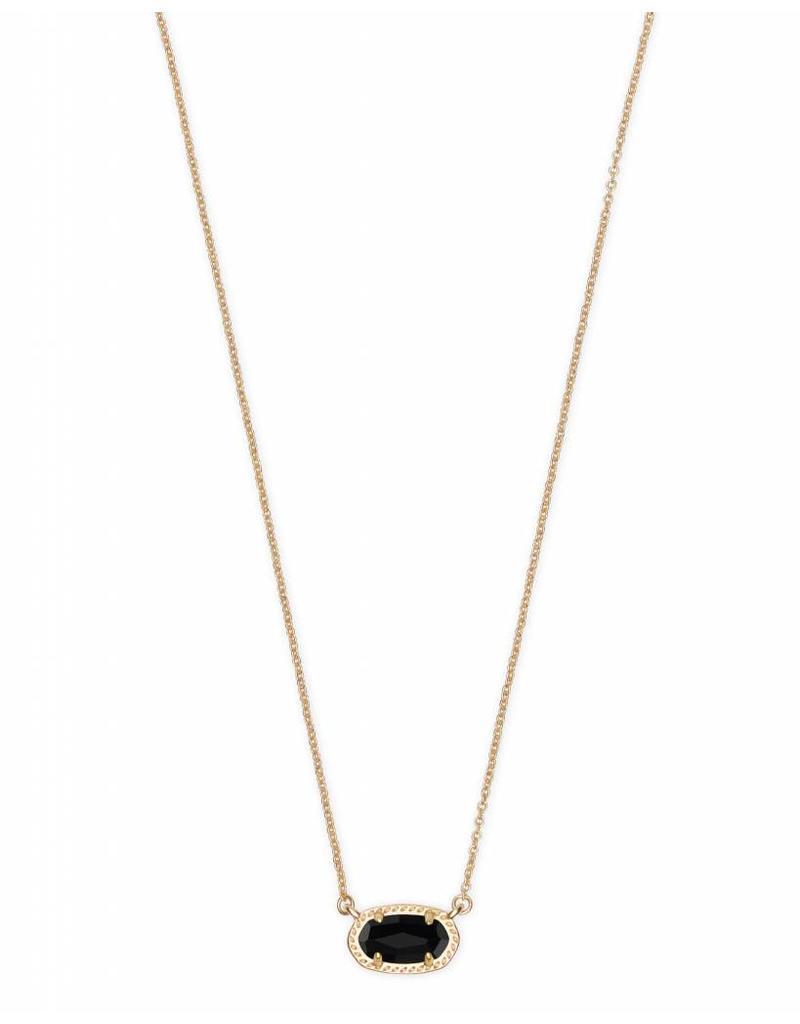 Kendra Scott Ember Necklace in Gold Black