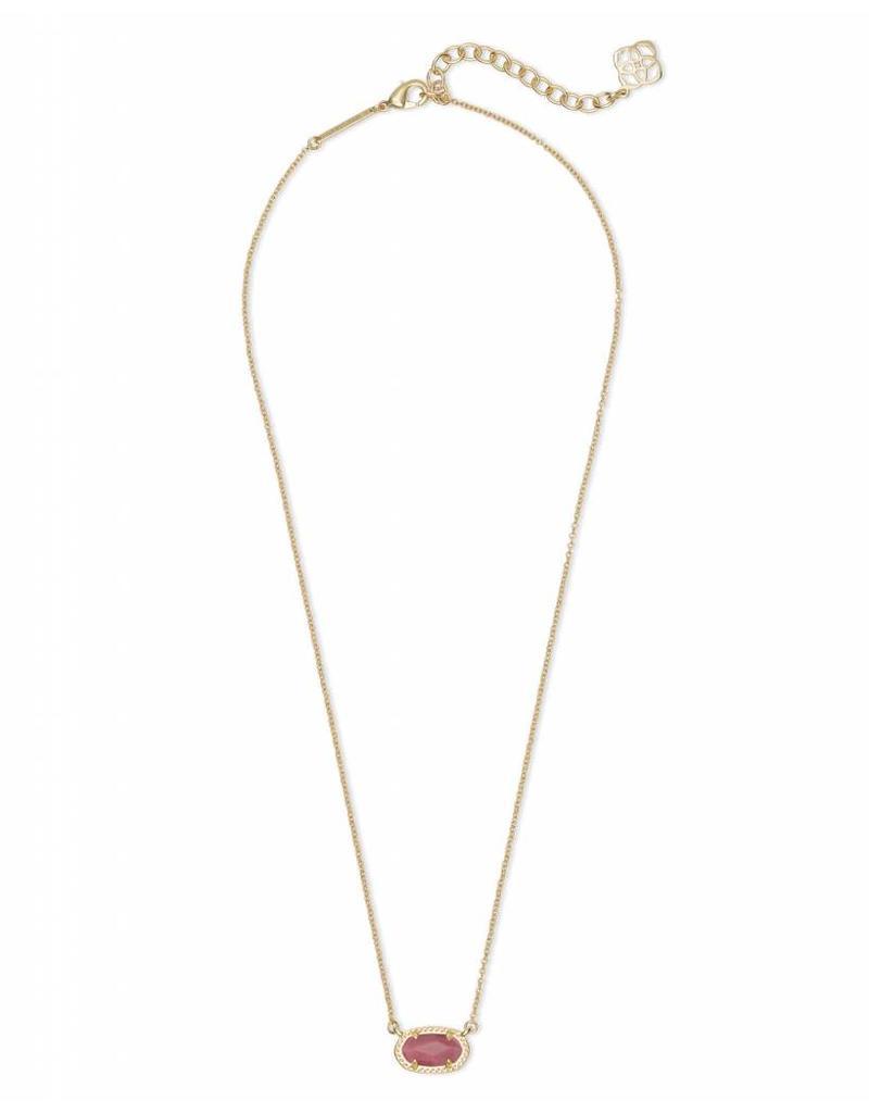 Kendra Scott Ember Necklace in Gold Pink Rhodonite
