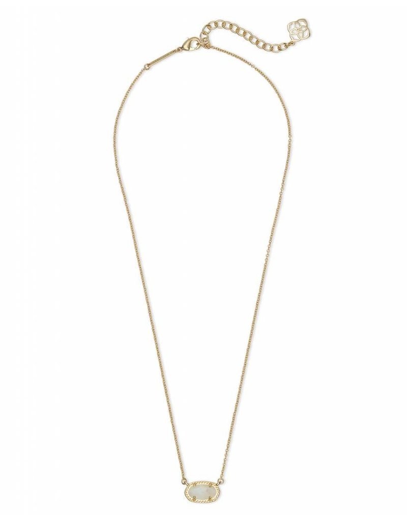 Kendra Scott Ember Necklace in Gold Ivory Pearl