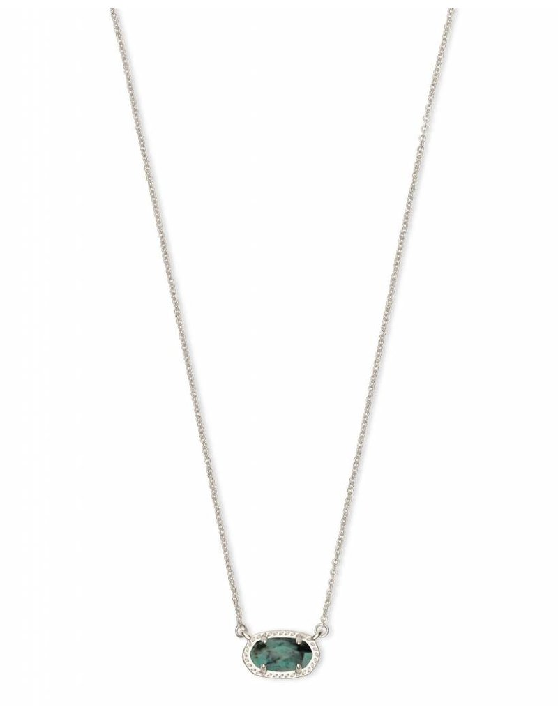 Kendra Scott Ember Necklace in Silver African Turquoise