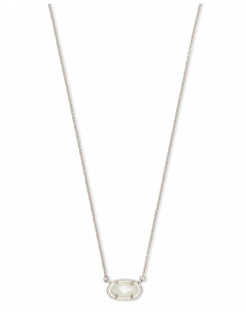 Kendra Scott Ember Necklace in Silver Iovry Pearl