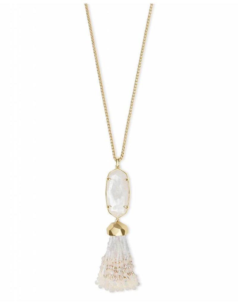 Kendra Scott Eva Necklace in Gold Ivory Pearl
