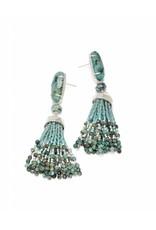 Kendra Scott Dove Earrings in Silver African Turquoise