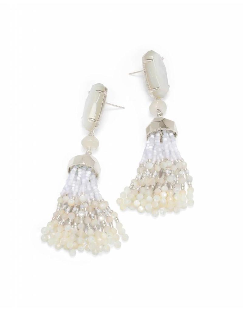 Kendra Scott Kendra Scott Dove Earrings in Silver Ivory MOP