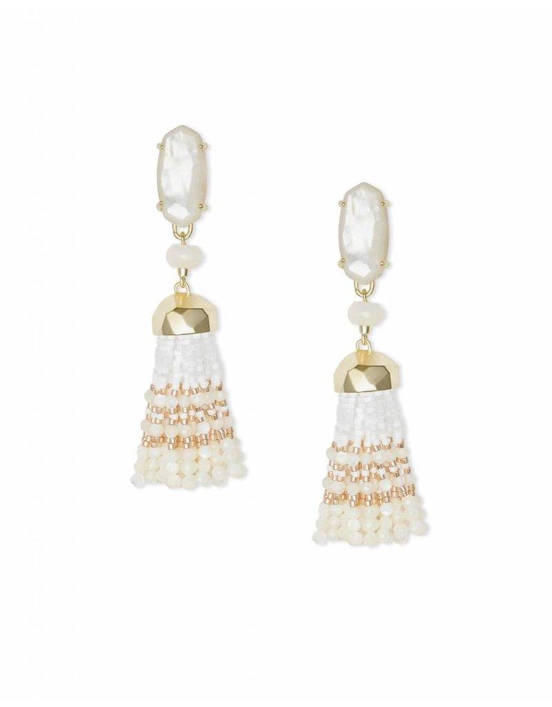 Kendra Scott Dove Earrings In Gold Ivory Pearl