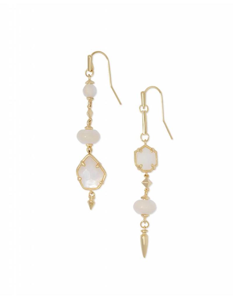 Kendra Scott Rhys Earrings in Gold Ivory Pearl