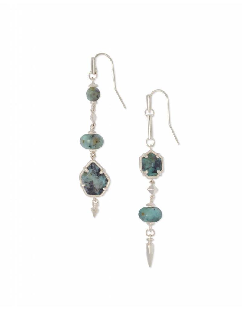 Kendra Scott Rhys Earrings in Silver African Turquoise