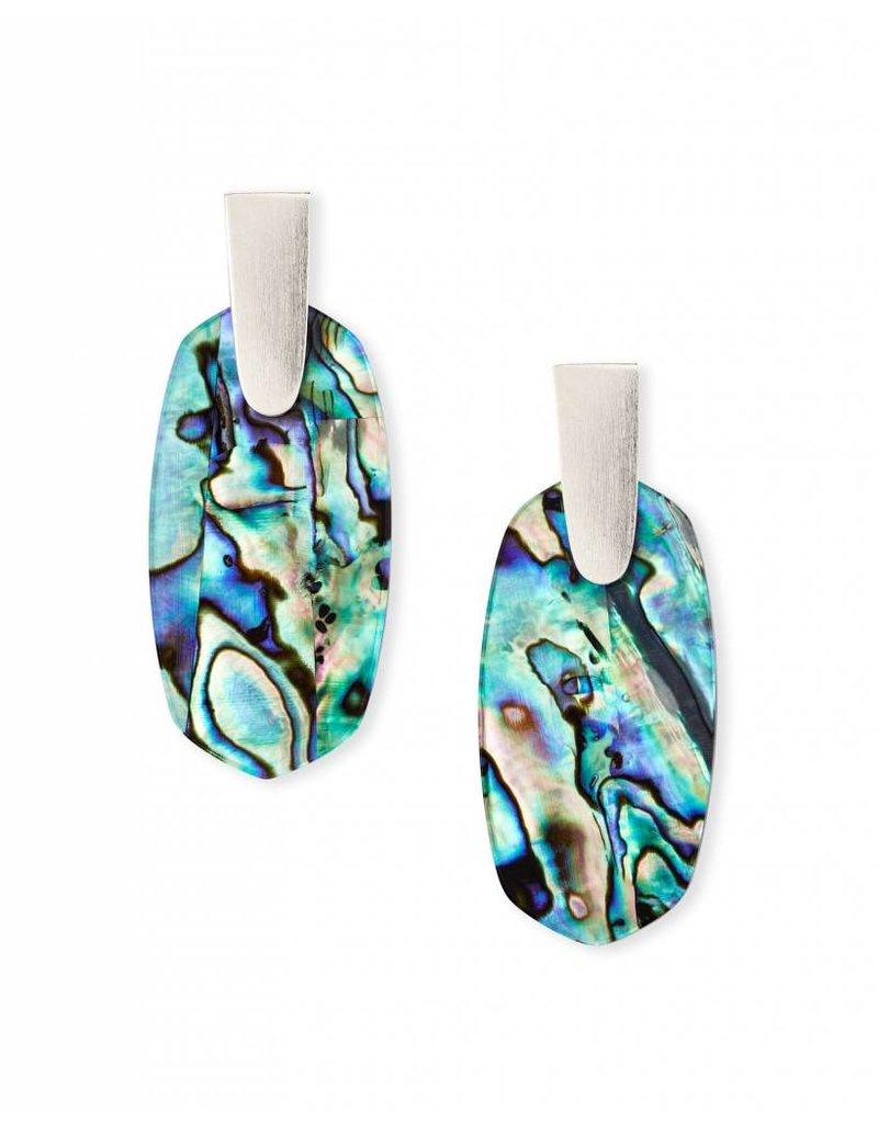 Kendra Scott Kendra Scott Aragon Earrings in Silver Abalone Shell