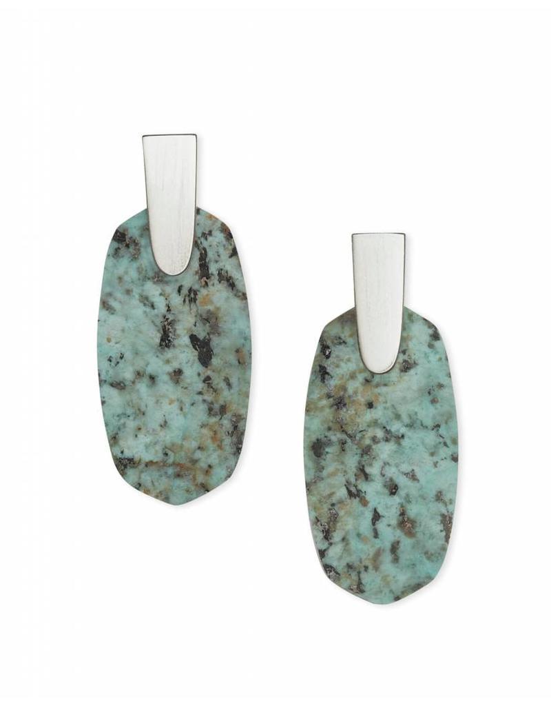 Kendra Scott Aragon Earrings in Silver African Turquoise
