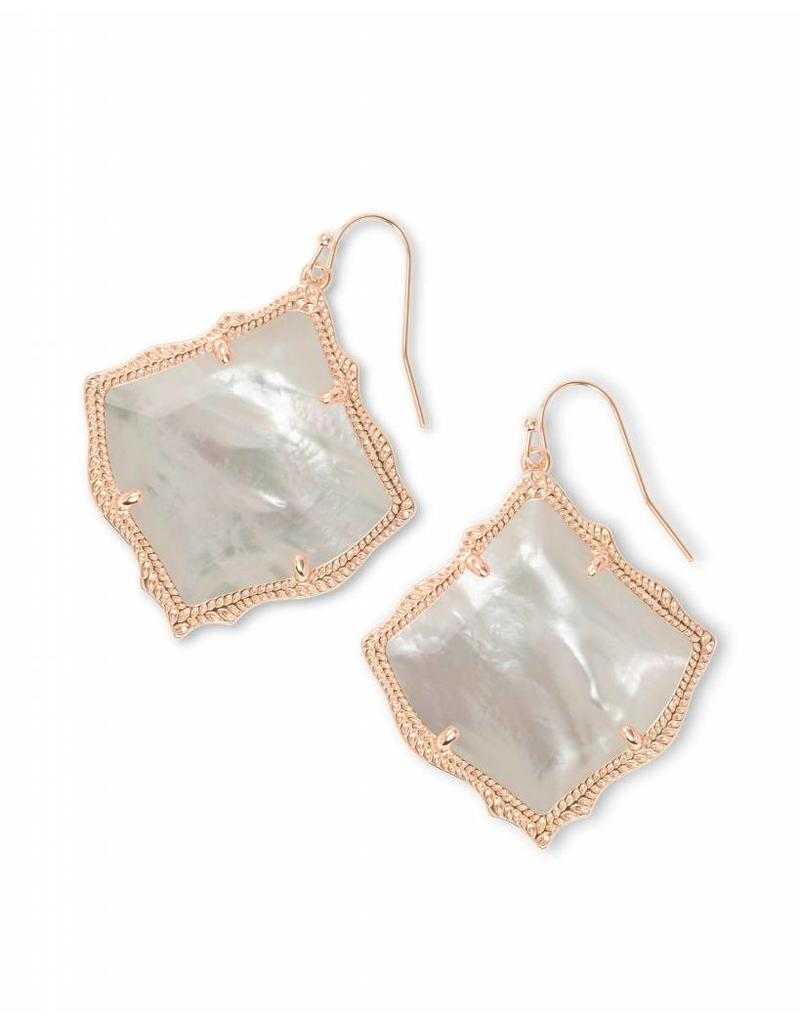 Kendra Scott Kirsten Earring Ivory Mother of Pearl on Rose Gold