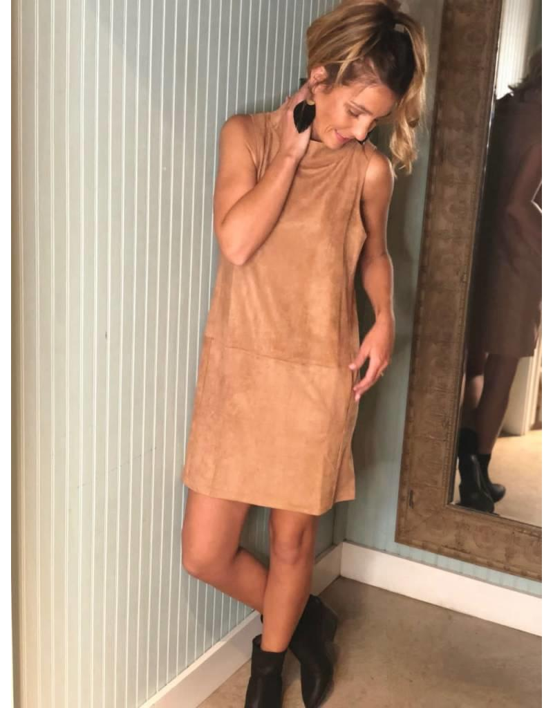 Taupe Faux Suede Dress