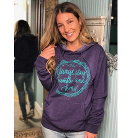 Always Stay Humble Purple Sweatshirt