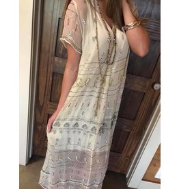 Saffron Maxi Dress - Ecru