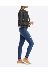 Spanx Distressed Denim Leggings - Medium Wash