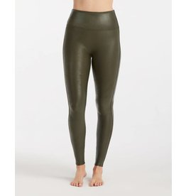 Spanx Faux Leather Leggins - Olive