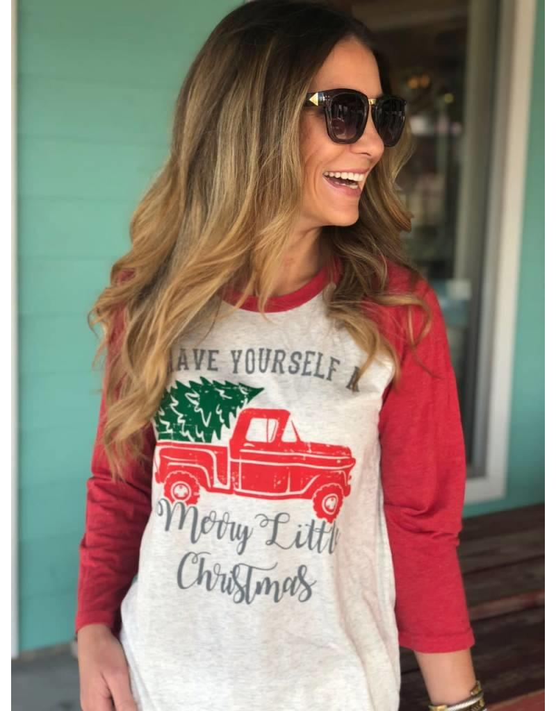 Have Yourself A Merry Little Christmas T-Shirt 3/4 Sleeve
