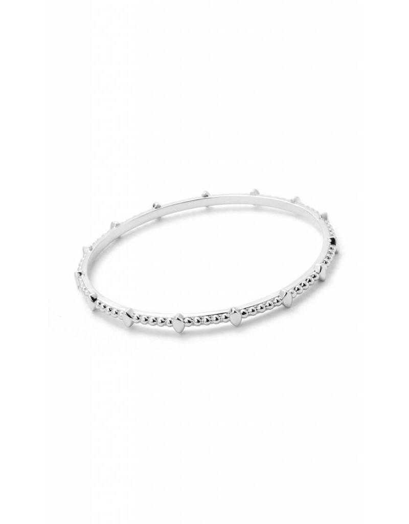 Natalie Wood Beaded Bangle in Silver