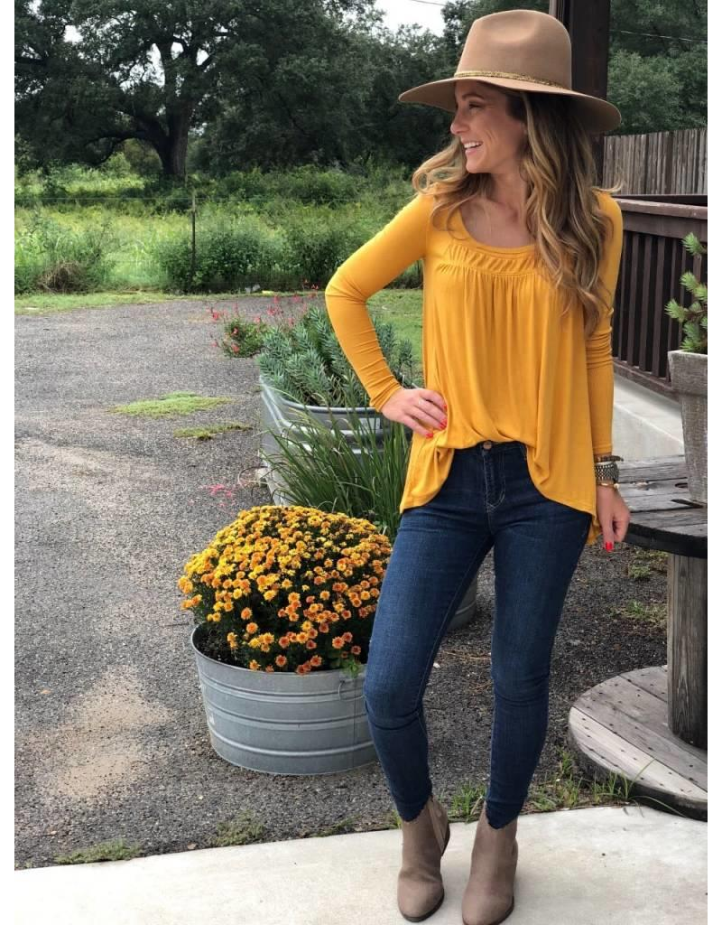 Free People Love Valley LS Top in Canary