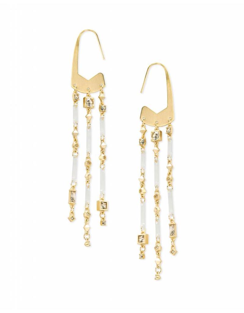 Kendra Scott Corza Earrings in Smoky Mix on Gold