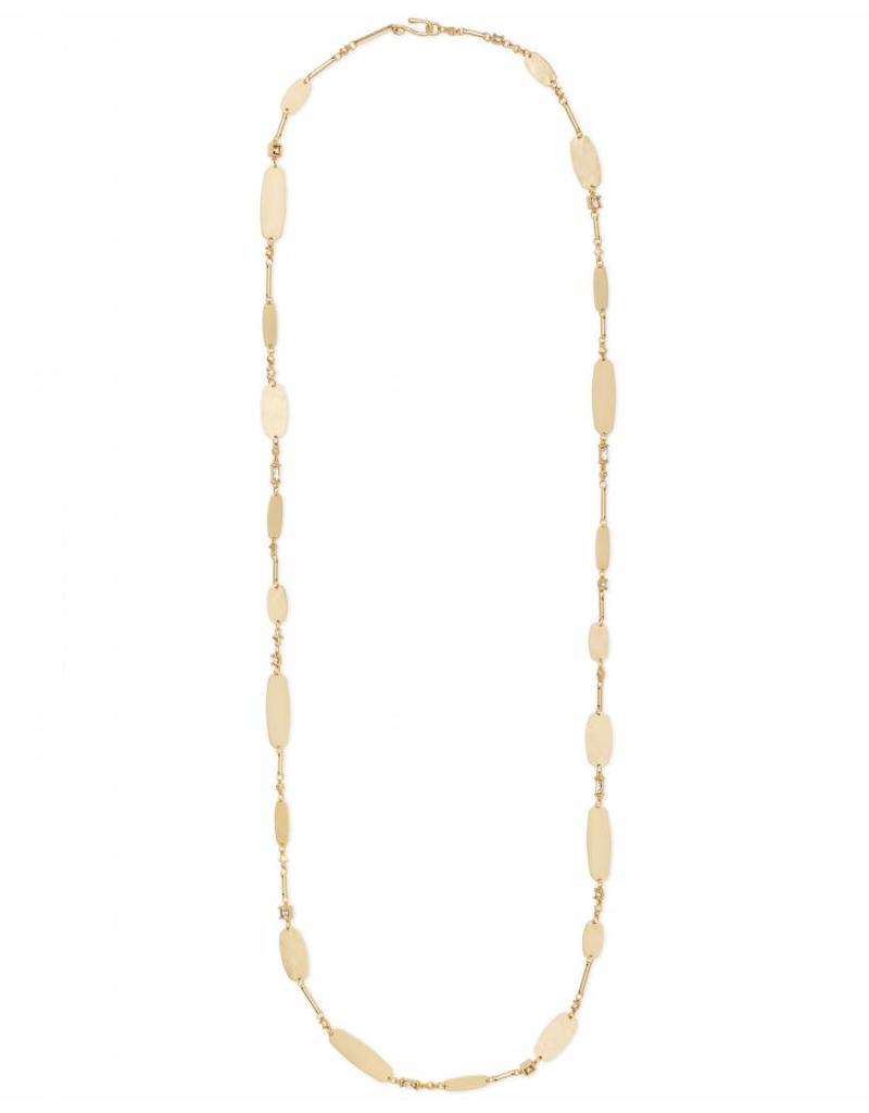 Kendra Scott Claret Necklace in Gold Smoky Mix