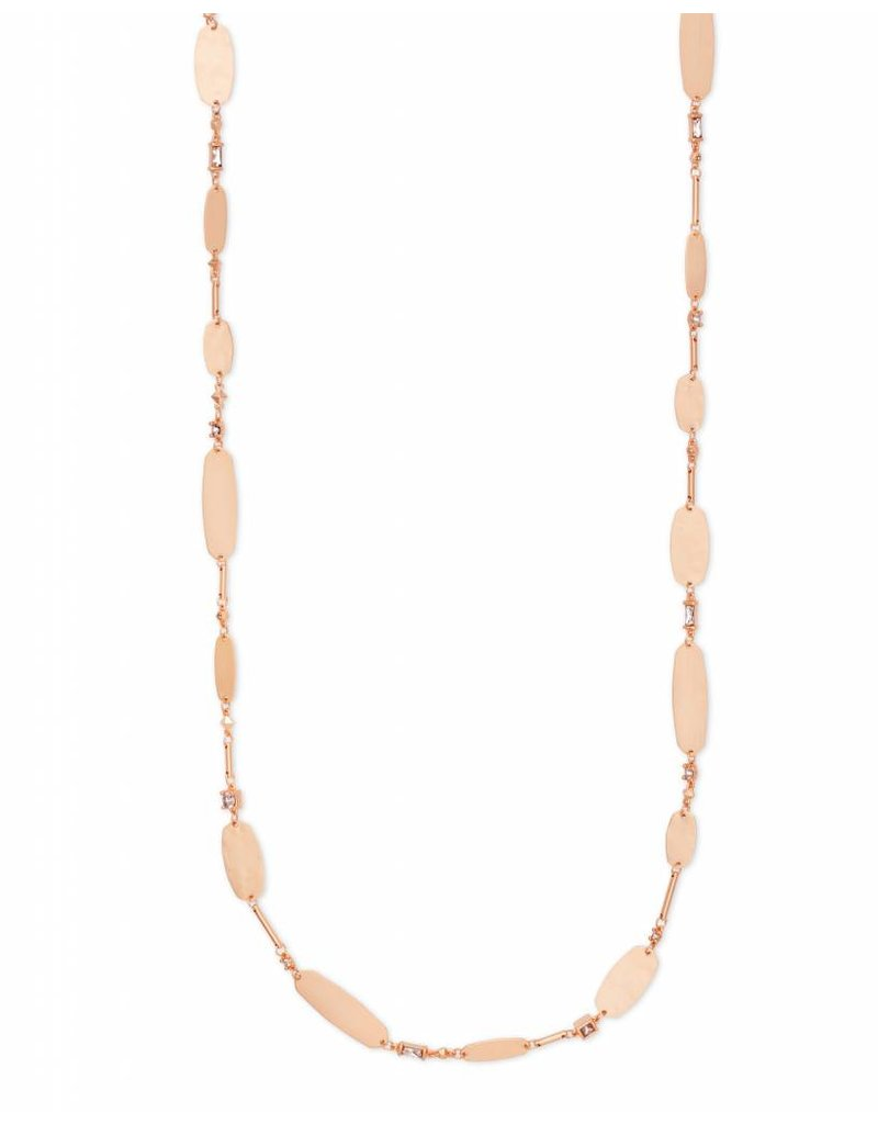 Kendra Scott Claret Necklace in Rose Gold Blush Mix